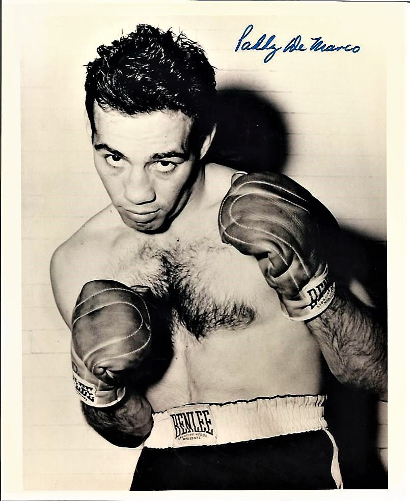 Boxing Paddy De Marco (Billy Goat) 10x8 signed b/w photo. DeMarco ...