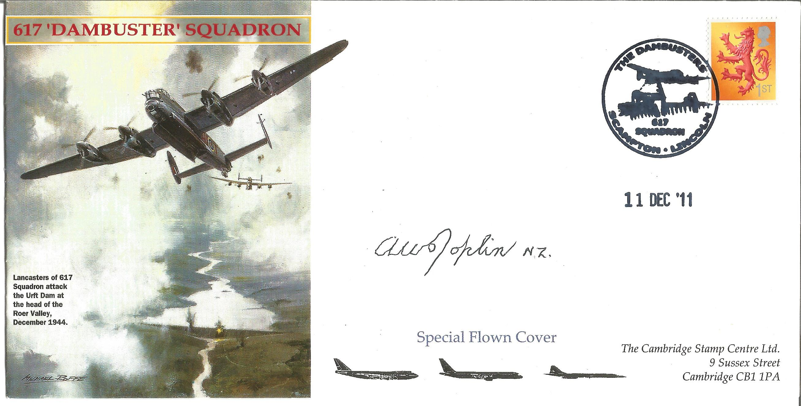 Dambusters World War Two Flown Cover Signed By Flt Lt Arthur W