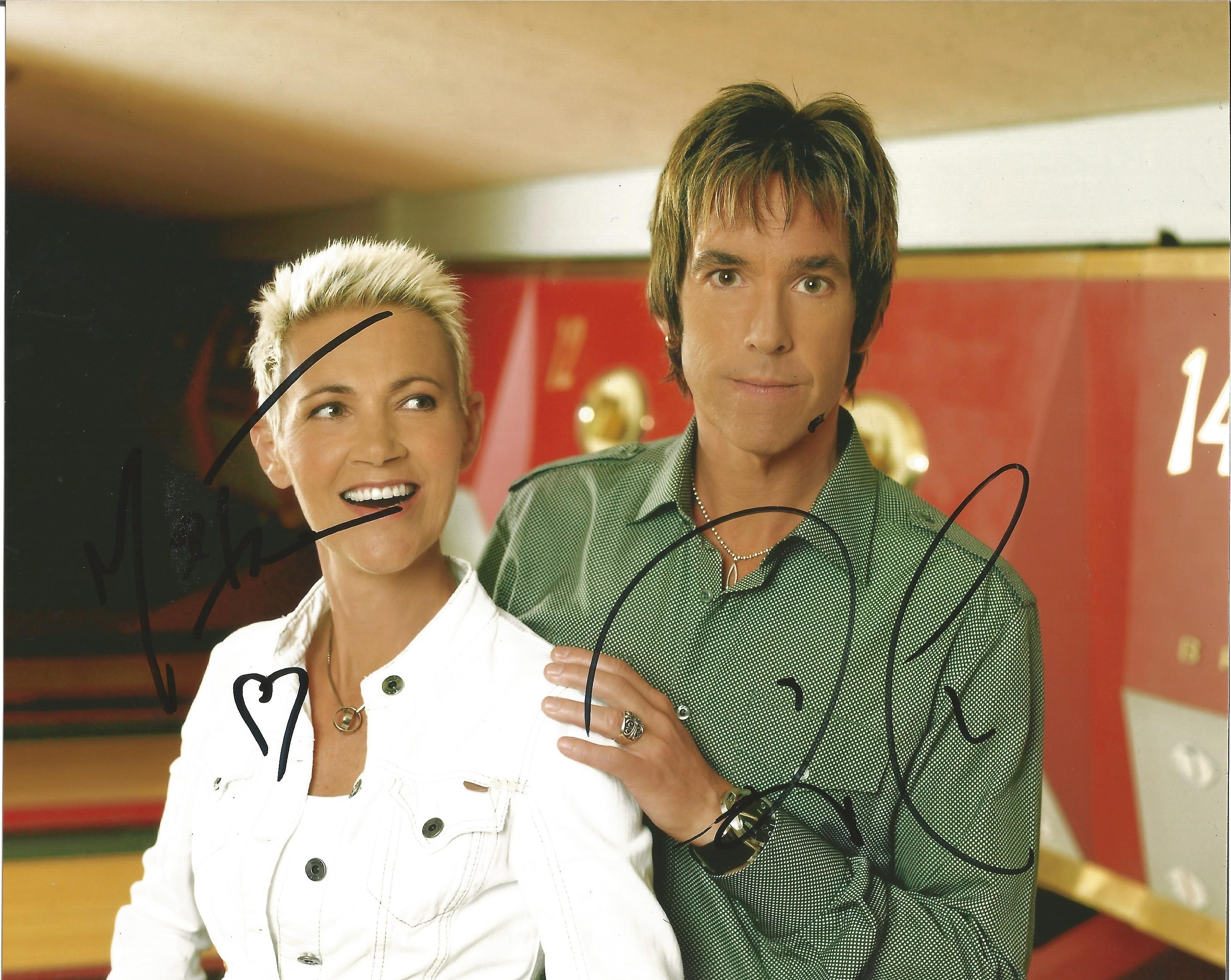 Lot 41 - Roxette signed 10 x 8 colour Signed By Both Members Of The Group Landscape Photo, from in person