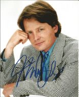 Lot 31 - Michael J Fox signed 10 x 8 colour Photoshoot Portrait Photo, from in person collection. Good