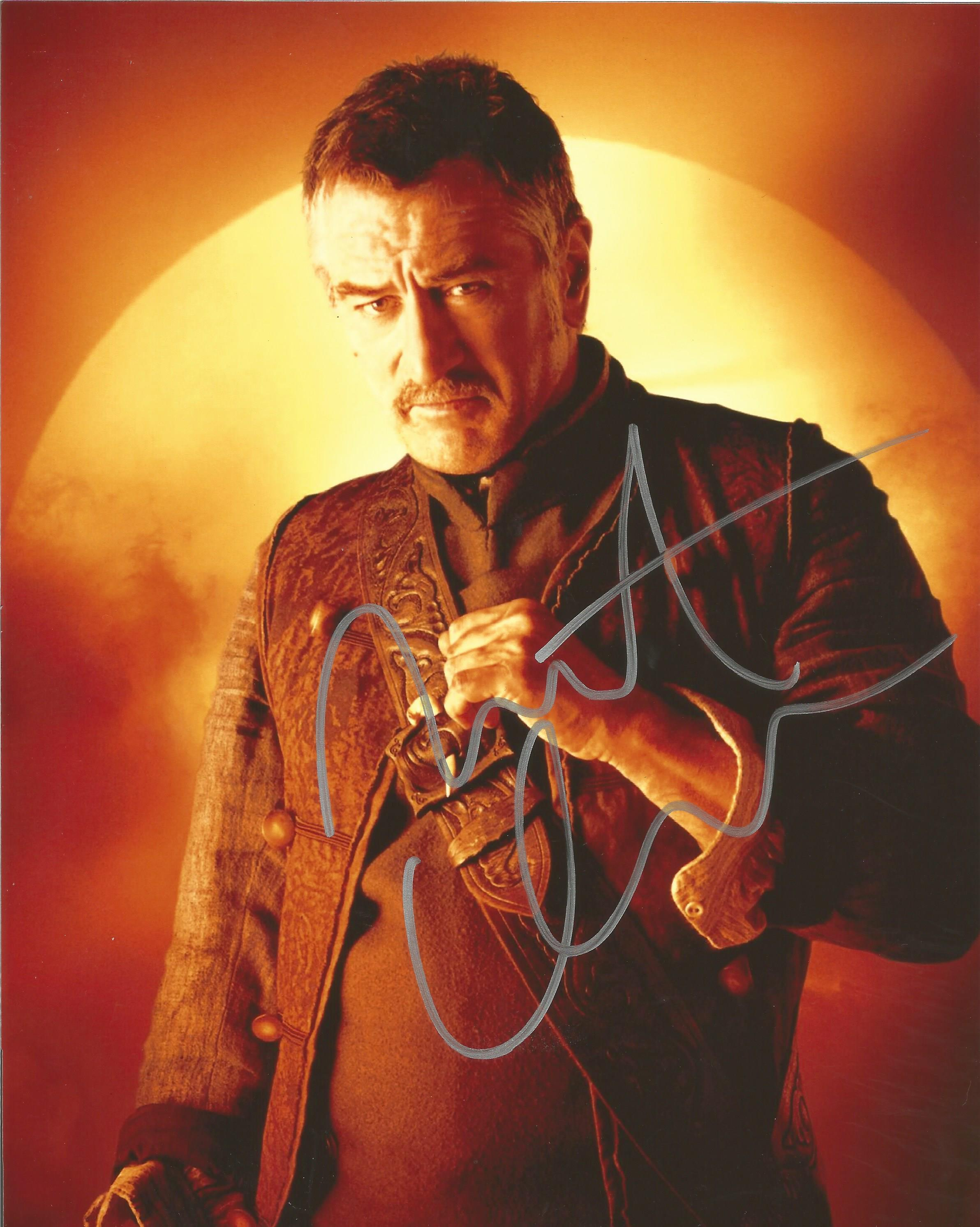 Lot 40 - Robert DeNiro signed 10 x 8 colour Stardust Portrait Photo, from in person collection autographed at