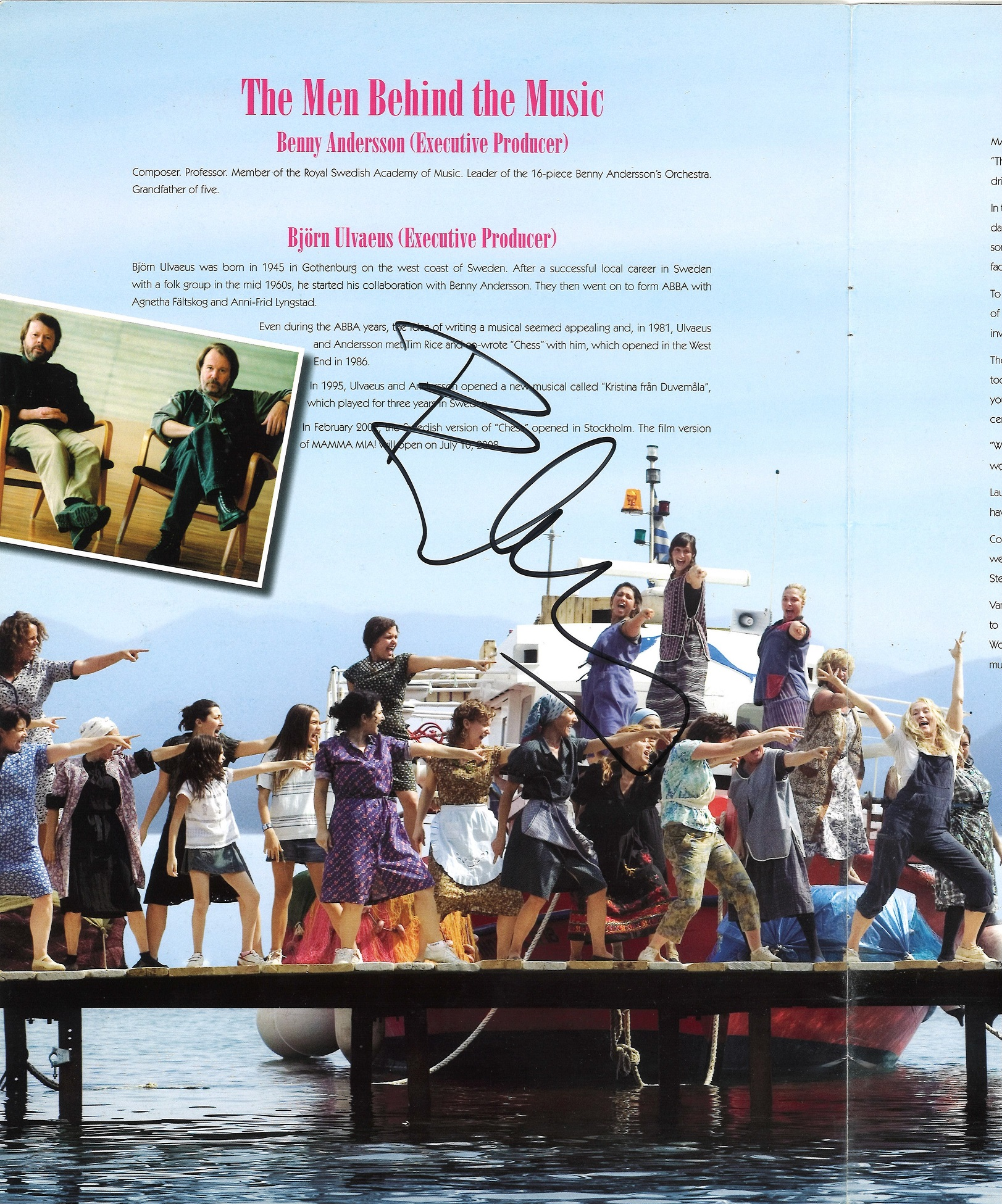 Lot 46 - Mama Mia The Movie Cast Book Signed By, from in person collection autographed at Bjorn Kristian