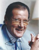 Lot 63 - Roger Moore signed 10 x 8 colour Photoshoot Portrait Photo, from in person collection autographed at