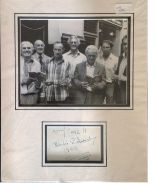 Lot 65 - Buster Edwards signature piece mounted below b/w photo. Approx overall size 16x12. Good Condition.