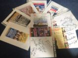 Lot 16 - Theatre flyer signed collection. 10 flyers included. Mostly multisigned. Some of signatures included