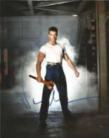 Lot 54 - Jean Claude Van Damme signed 10 x 8 colour Photoshoot Portrait Photo, from in person collection