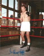 Lot 53 - Henry Cooper signed 10 x 8 colour Boxing Portrait Photo, from in person collection autographed at
