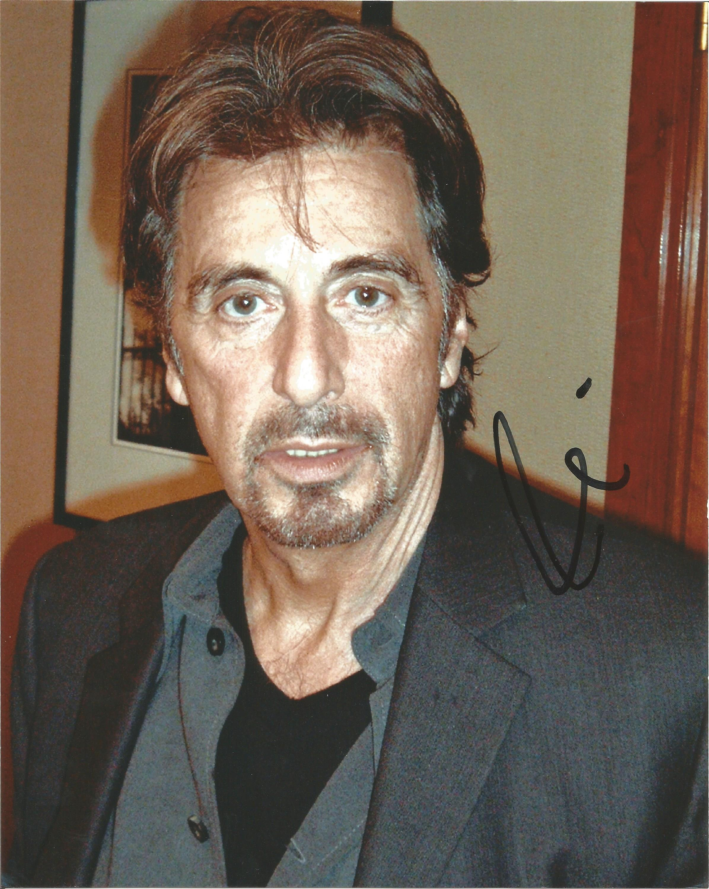 Lot 37 - Al Pacino signed 10 x 8 colour Photoshoot Portrait Photo, from in person collection autographed at