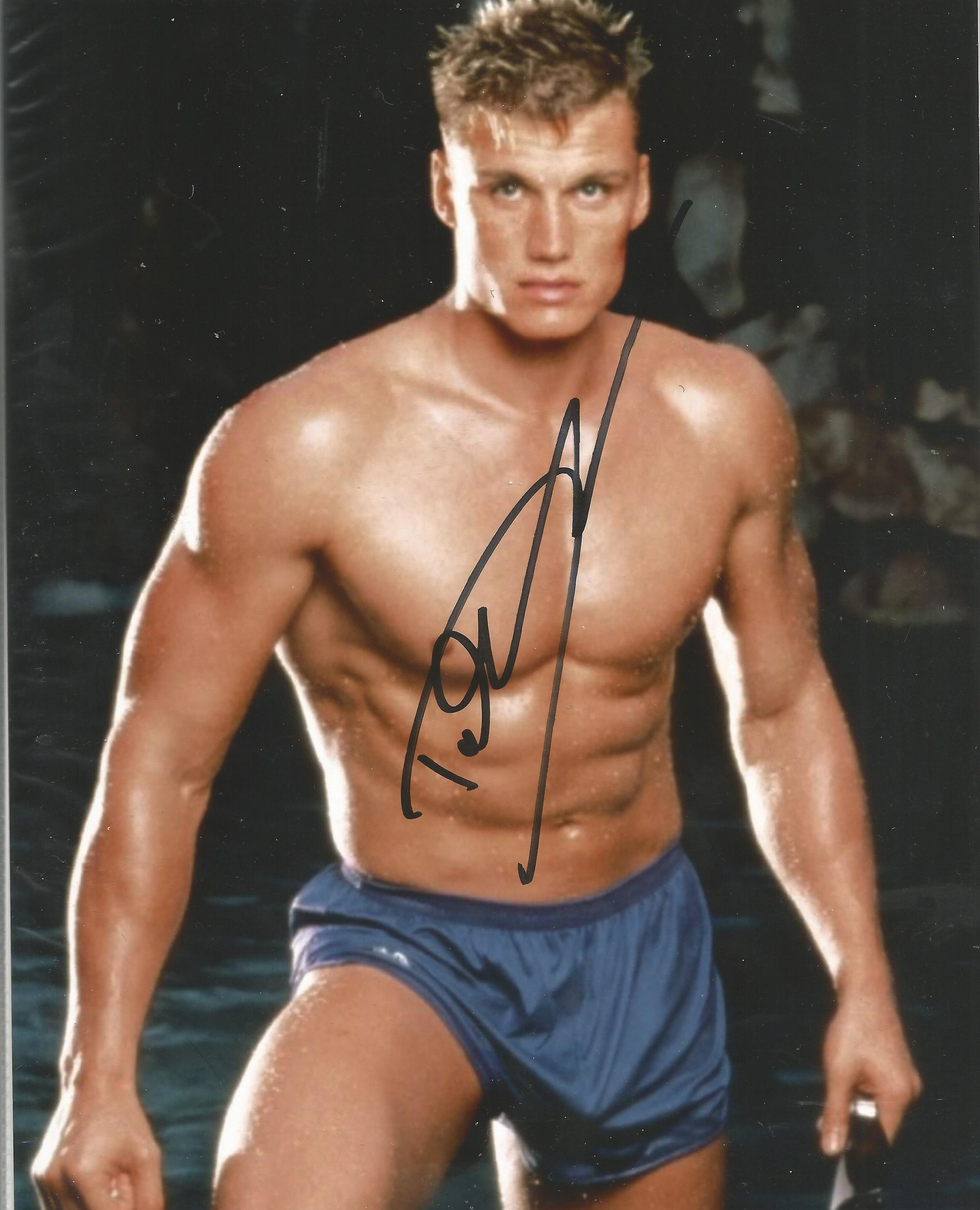 Lot 50 - Dolph Lundgren signed 10 x 8 colour Photoshoot Portrait Photo, from in person collection autographed