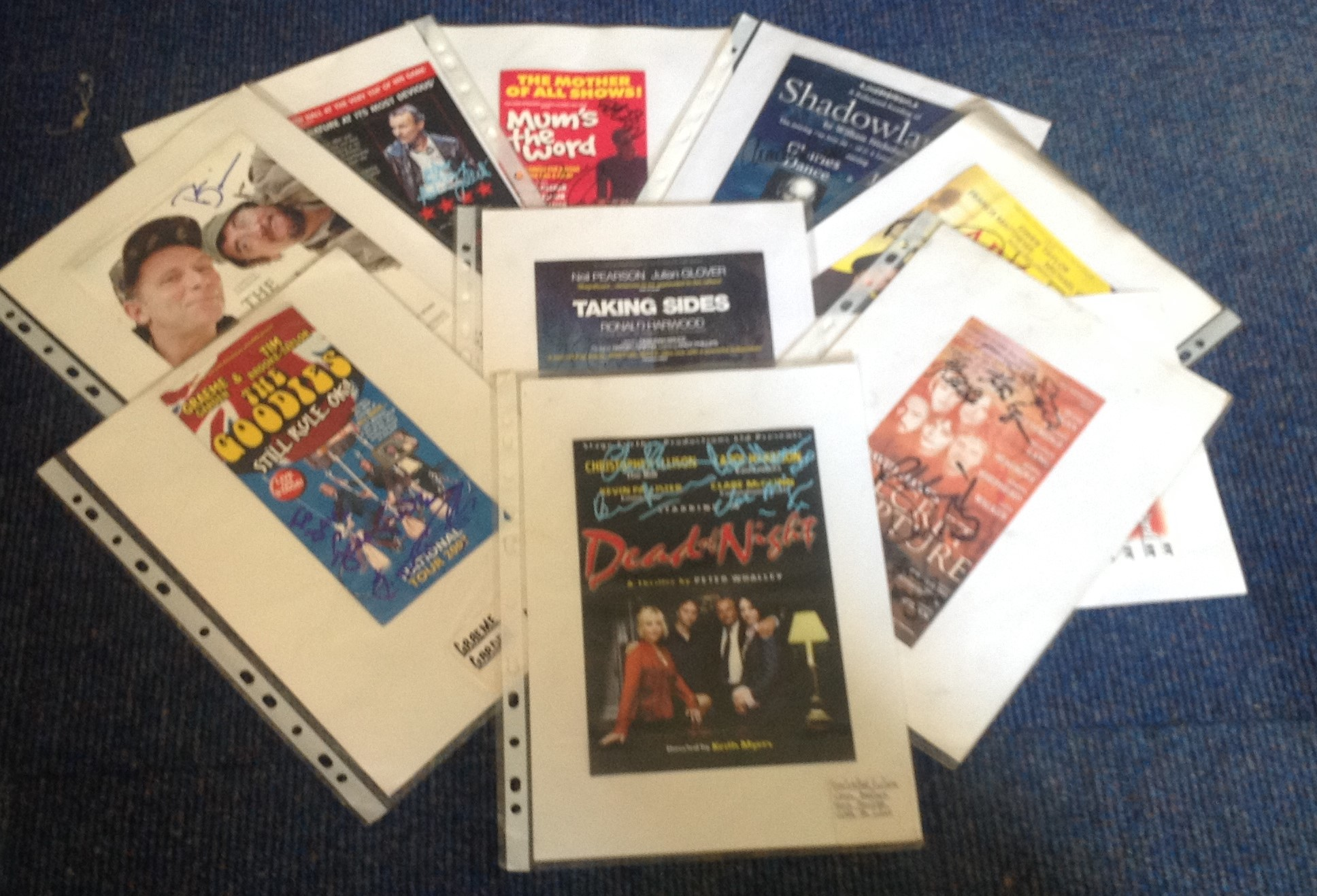 Lot 15 - Theatre flyer signed collection. 10 flyers included. Mostly multisigned. Some of signatures included