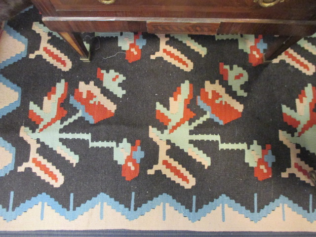 Lot 749 - A Kelim rug, 170 x 125cm and an Ersari runner, 295 x 85cm (2)