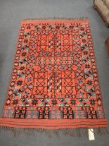 Lot 754 - A Modern Assan Afghan handspun rug, with natural dyes, 194 x 134cm