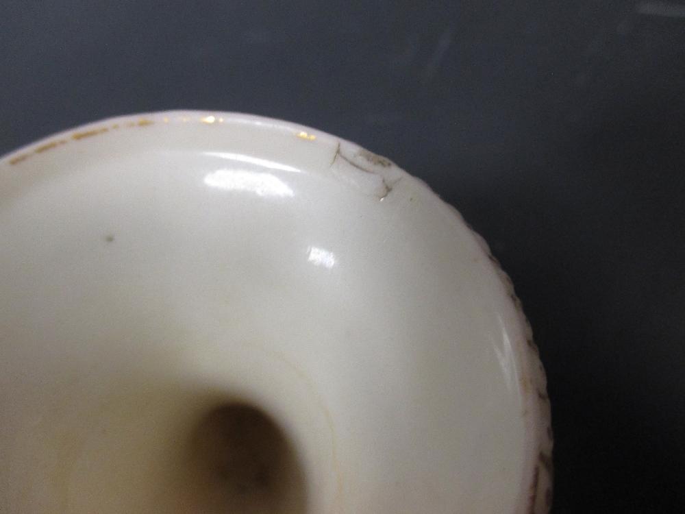 Lot 3 - Two Worcester gilt parian vases