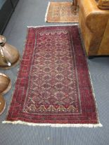 Lot 758 - A pair of Persian rugs, 190 x 101cm (2)