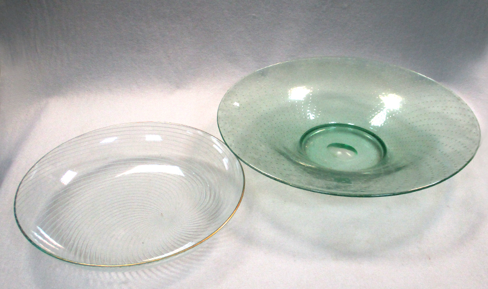 Lot 49 - Verlys, France, an opalescent glass charger, moulded with floral decoration, moulded mark,