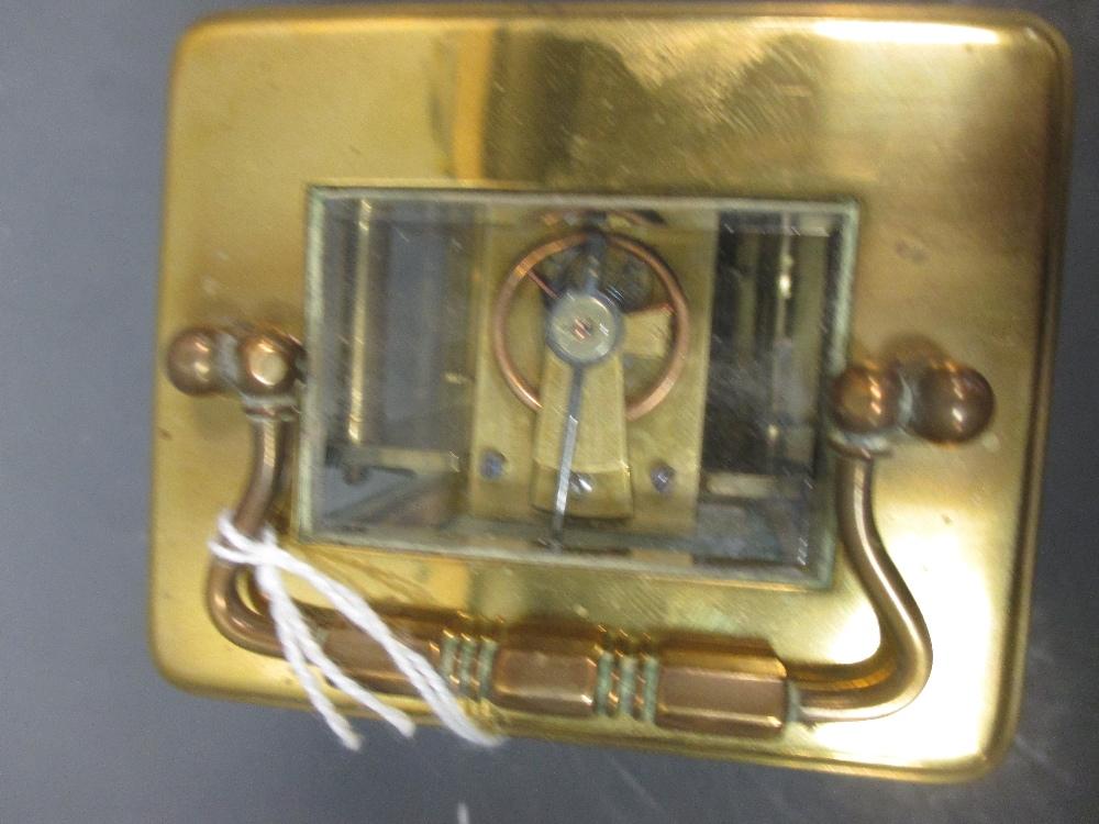 Lot 40 - A brass carriage clock