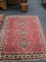 Lot 757 - Two Persian rugs, 240 x 204cm and 180 x 97cm (2)