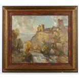 J.B. Harrison (British, early 20th Century), 'Richmond Castle, North Yorkshire',oil on canvas, 50 x