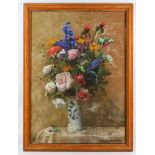 Archibald Russell William Allan (1878-1959), 'Midsummer flowers', pastel on buff paper, signed lower
