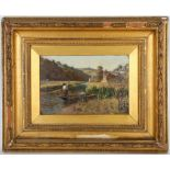 Helen Smith, late 19th Century, 'A Devonshire Stream', oil on artist milled board, signed,