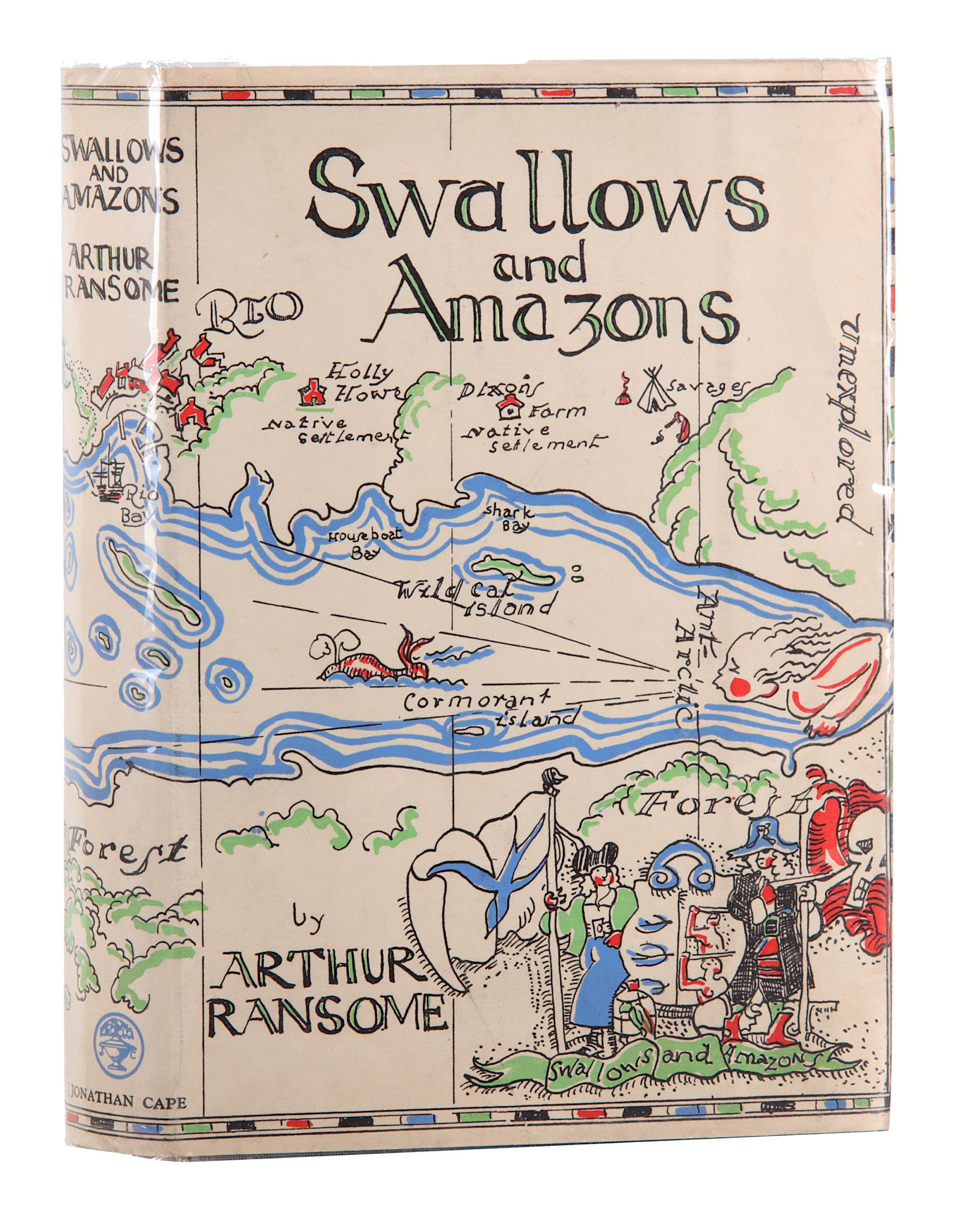 Lot 76 - Ransome (Arthur) Swallows and Amazons, FIRST EDITION, ownership inscription to half title,