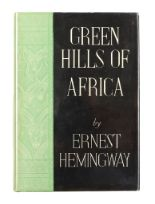 Lot 48 - Hemingway (Ernest) Green Hills of Africa, FIRST EDITION, half title, bookplate, illustrations by