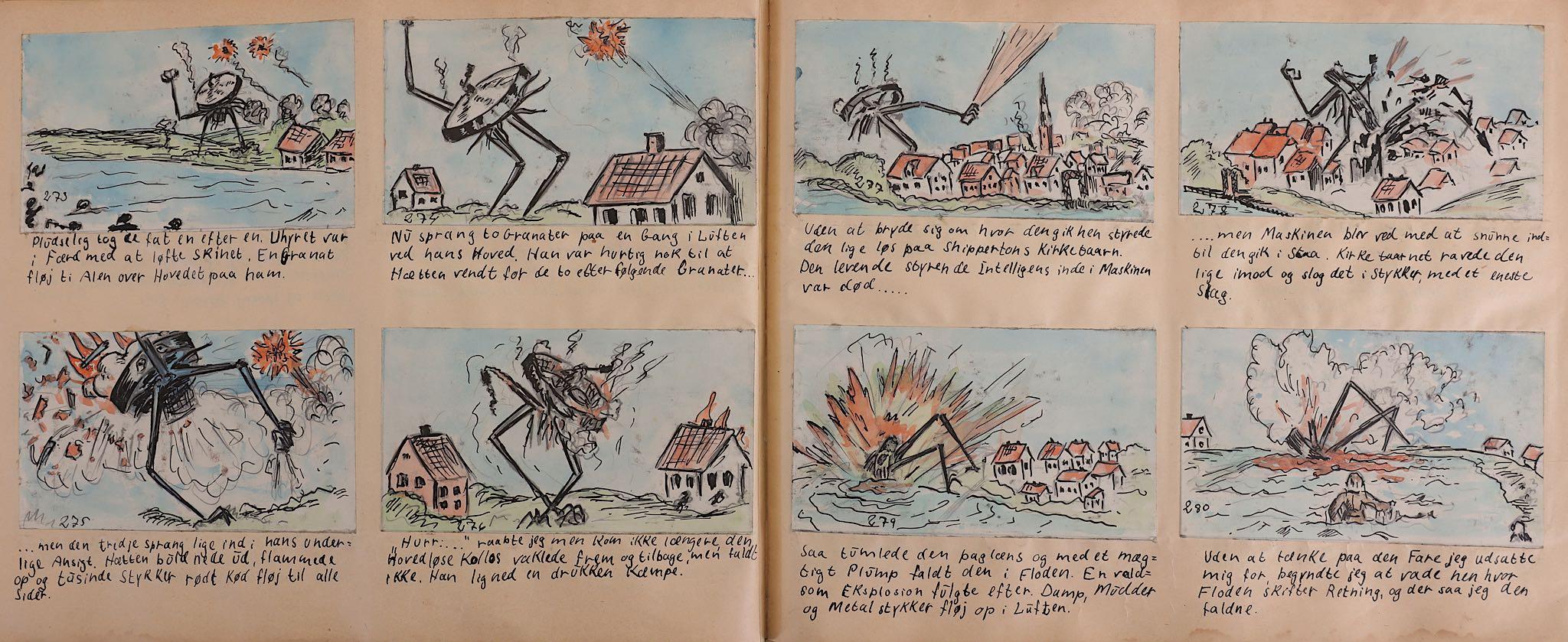 Lot 178 - Wells (H. G.) War of the Worlds, original Danish