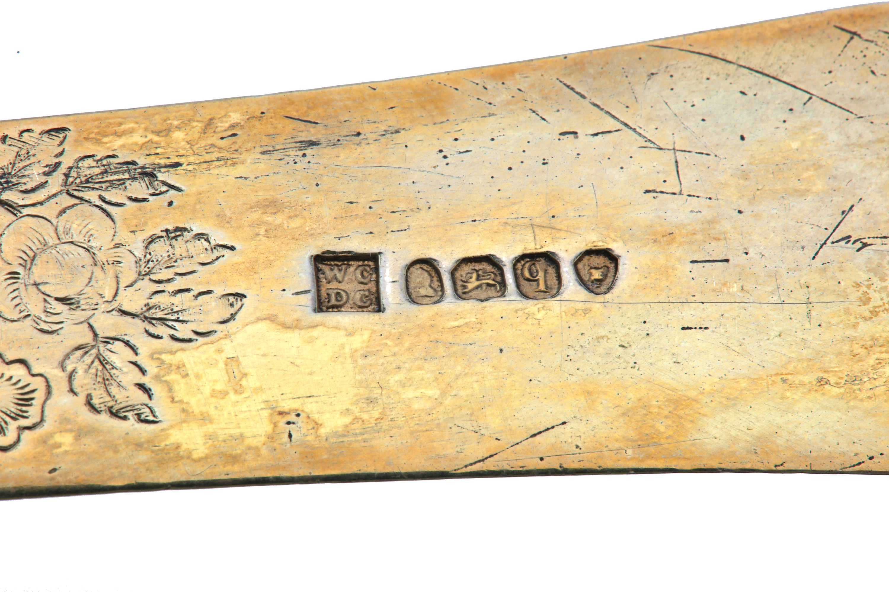 Lot 29 - A silver-gilt paper knife, the blade London 1831, maker's mark WC over DC, associated with a late 19