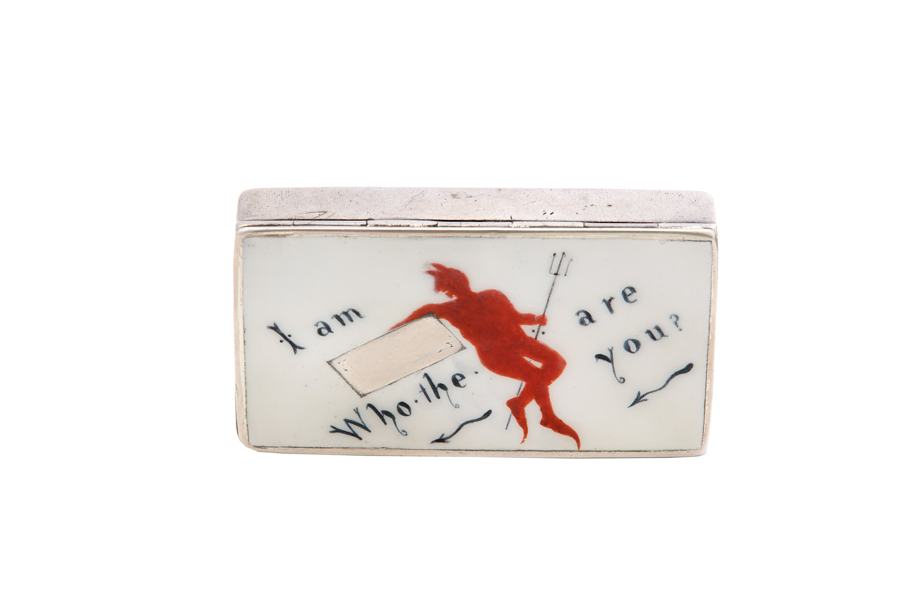 Lot 15 - A rare Victorian antique sterling silver and enamel novelty match case / vesta, Birmingham 1886 by H