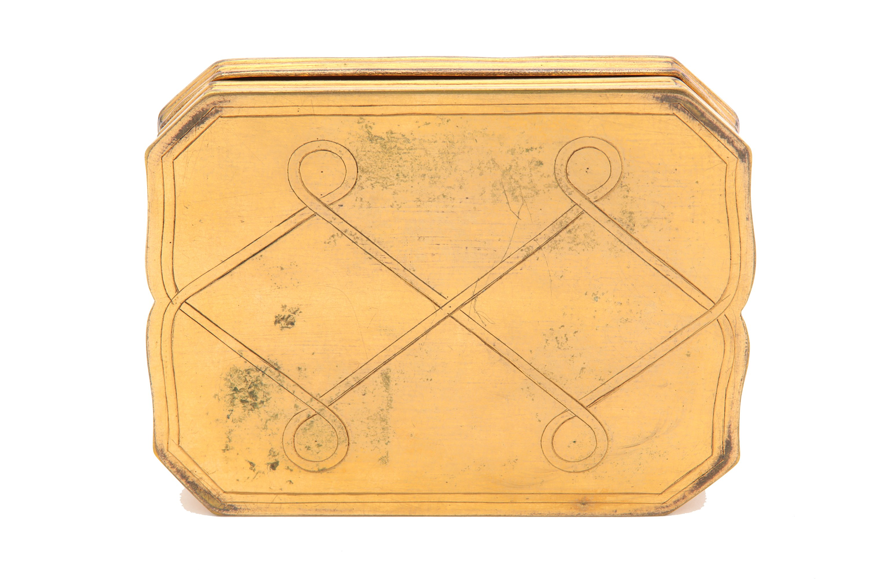 Lot 54 - An early to mid-18th century tortoiseshell pique and gilt metal snuff box, Continental circa 1720-40