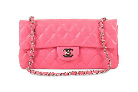 7f405e6dbac5 Chanel Lipstick Pink East West Flap Bag