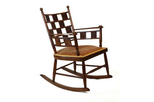 Sensational Late 19Th Century Arts Amp Crafts Oak Rocking Chair The Beatyapartments Chair Design Images Beatyapartmentscom