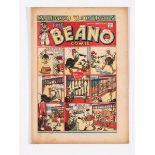 Beano 170 (1942) New Year. Propaganda war issue. 'V for Victory - B for Beano!' Doubting Thomas gets