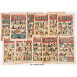 Beano (1949) 352-388 Xmas. Near complete year missing No 389. First Jack Flash by Dudley Watkins.