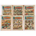 Dandy (1939) 73-78. Good cover colours, general grubbiness to cover margins, some worn page