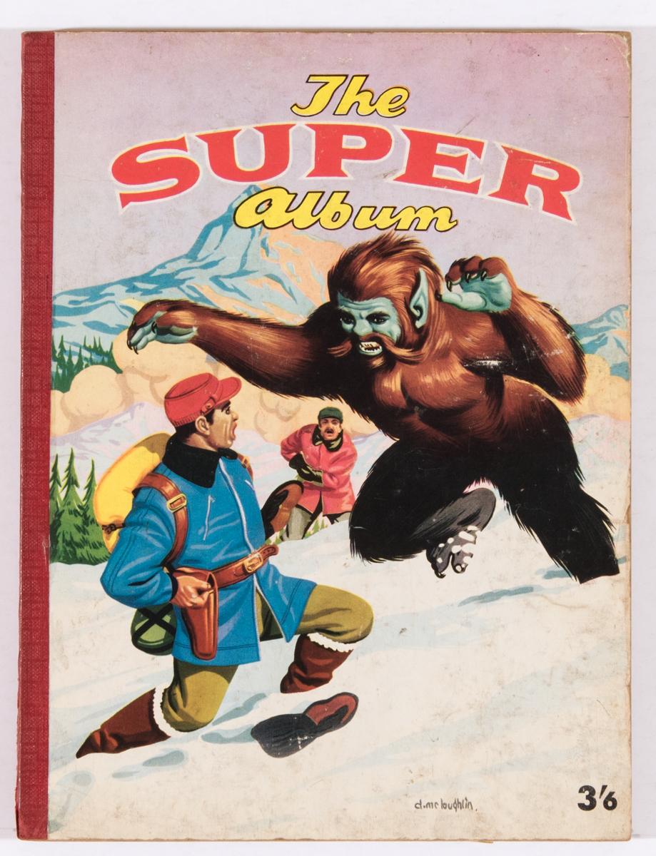 The Super Album (1958 A Moring). Denis McLoughlin cover art with Blackhawk, Arizona Raines, Doll Man