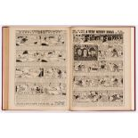 Film Fun (Jul-Dec 1943) 1224-1243. In half-year bound volume. Publisher's file copies starring