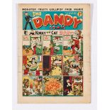 Dandy 53 (1938). First snow-capped Merry Xmas cover with ad for first Dandy annual. Good colours,