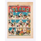 Beano 300 (1946) Xmas comic. Double page Shipwrecked Circus adventure (second series) by Dudley