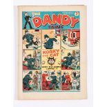 Dandy Comic No 17 (1938). Bright, fresh covers, cream pages. Rare in this grade [fn]
