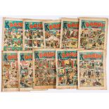 Dandy (1939) Nos 59, 60, 64, 68, 69, 83, 88, 102 (with Nos 58 and 62: most pages missing [pr]).