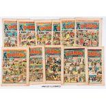 Dandy (1946) 309-314, 316-321, 324-327, 329, 330, 333. Nos 324, 326 worn, grubby copies [fr],