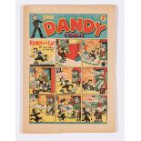Dandy Comic No 47 (1938) with illustrated ad for Dandy Monster Comic No. 1. Narrow piece out of RH