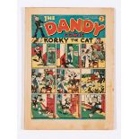 Dandy Comic No 44 (1938). Bright covers, some light margin blemishes, light tan pages [fn-]