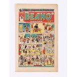 Beano 351 (1948) Xmas comic. Biffo invites all the Beano characters to his Very Expensive