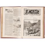 Chums Volume 1 (Cassell & Co 1892-93) 1-50. In tooled burgundy leather binding. 'A reminiscence of