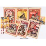 Wizard (1937) 735-786. Complete year with 739, 751, 778 Free Booklet gifts illustrated by Dudley