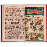 Dandy (1949) 386-423. Complete year in bound volume starring Danny Longlegs and Desperate Dan