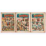 Dandy (1938) Nos 54, 55, 57. Grubby, worn copies [fr/gd-] (3). No Reserve