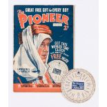 The Pioneer 3 (1934) Lawrence of Arabia cover, with free gift World Clock & Mileage Chart. Bright